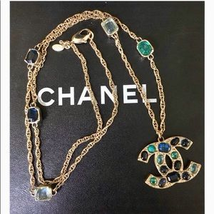 Chanel Crystal CC Necklace